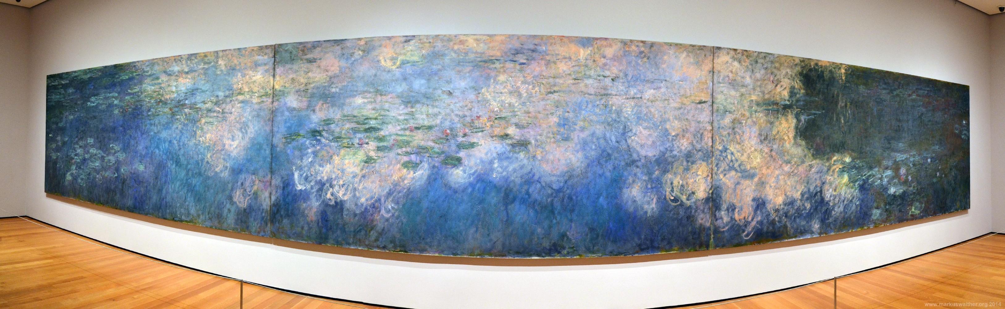 Panorama Der Seerosen Von Monet Im Moma New York Markus Walther