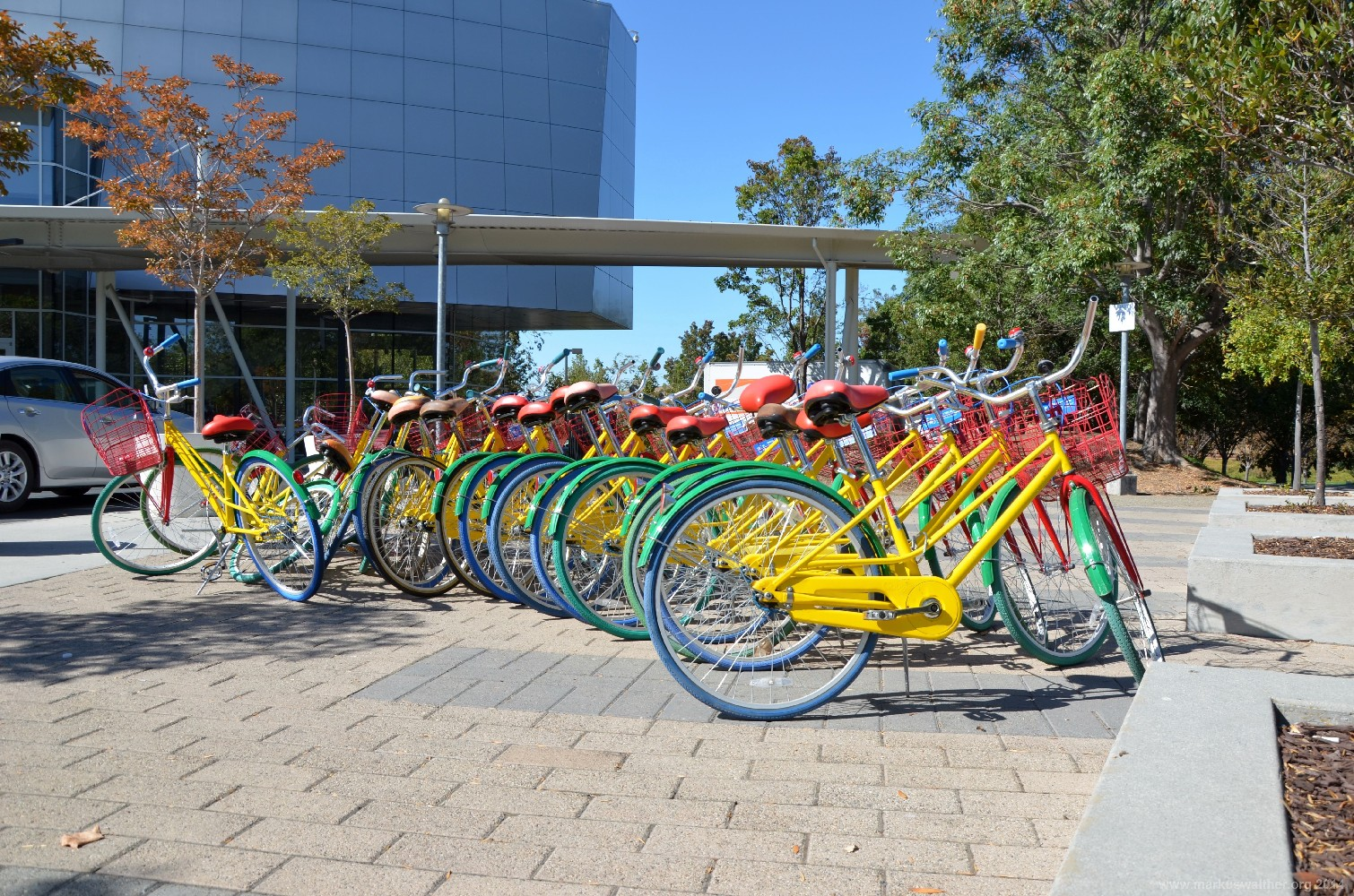 Google Fahrräder in Mountain View, CA