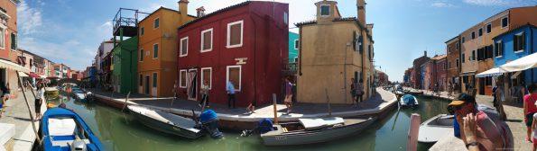 Panorama auf Burano, Venedig